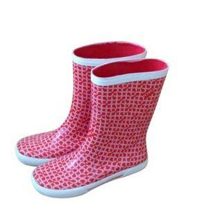 Coach Rain Boots Calf Height Rubber Size 9